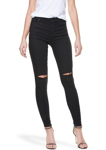 High Rise Skinny Bond Black – The Best Jeans for Curvy Women