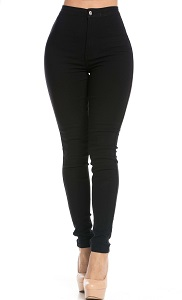 High-Waisted Plus-Size Rockstar Skinny Jeans