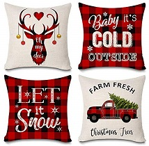 Christmas Throw Pillow - gifts for her