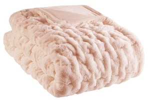 Faux Fur Ruched Throw - top gifts for women