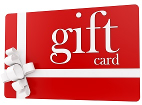 Gift Cards - unique gifts for her