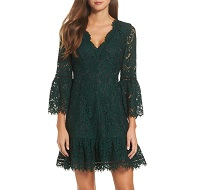 Bell Sleeve Lace Cocktail Dress